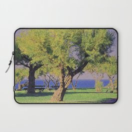 Tamarisk Trees Overlooking the Ocean Laptop Sleeve