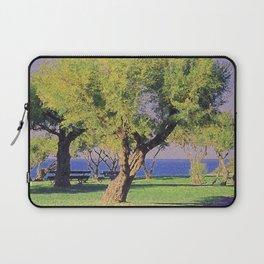 Tamarisk Trees Overlooking the Ocean Laptop Sleeve