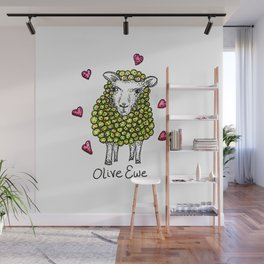 Olive Ewe Wall Mural