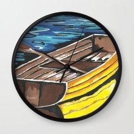 Boat Reflections Wall Clock