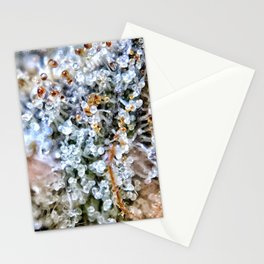 Diamond OG Top Shelf Trichomes Close Up View Stationery Cards