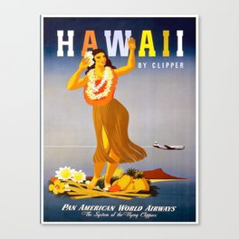 Vintage poster - Hawaii Canvas Print