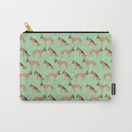 German Shepherd Dogs Green Background Carry-All Pouch