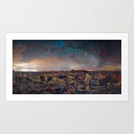 Exploring the Bisti Badlands of New Mexico Art Print