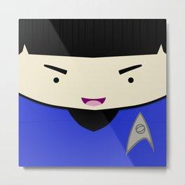 Spock in a Box Metal Print