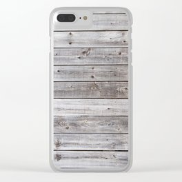 Gray Wood Clear iPhone Case