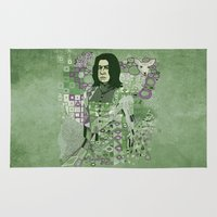 snape Area & Throw Rugs featuring Portrait of a Potions Master by Karen Hallion Illustrations