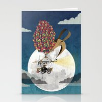 brompton Stationery Cards featuring Flying Bicycle by Wyatt Design