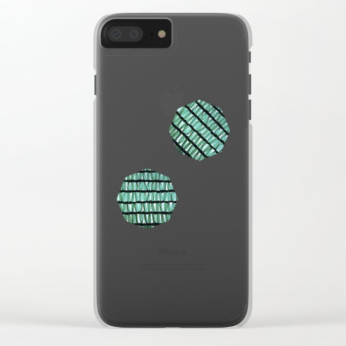 green texture Clear iPhone Case