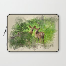 Watercolor Deer Laptop Sleeve
