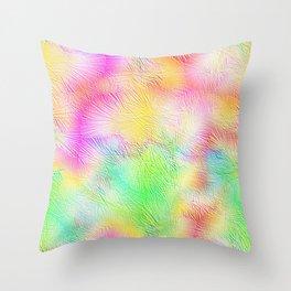 Green Pastel Fireworks Throw Pillow