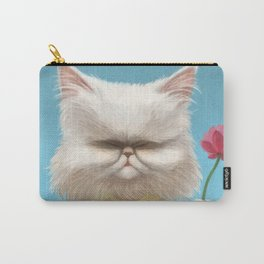 A cat holding a flower Carry-All Pouch