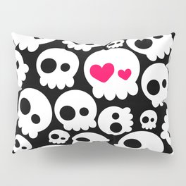 A skull in love Pillow Sham