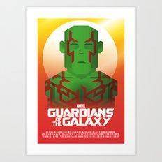 Guardians of the Galaxy - Drax Art Print