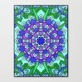 Kaleidoscope of Cool Colors Canvas Print
