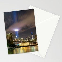September 11 Tribute Lights Stationery Cards