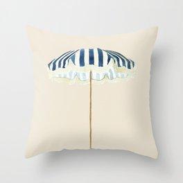 Summer Time . Sun Umbrella Throw Pillow