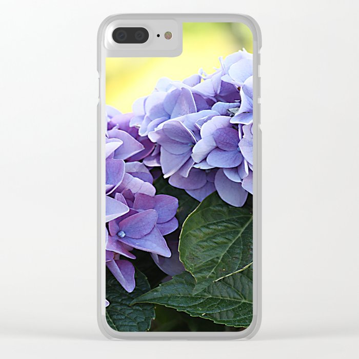 Purple hydrangea(1) Clear iPhone Case