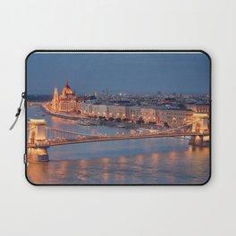 Chain Bridge at Dusk. Budapest. Laptop Sleeve