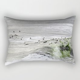 ROLLING AND TUMBLING ON THE WAVES Rectangular Pillow