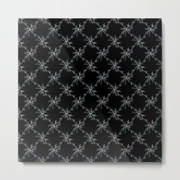 Lightning Grid Pattern Metal Print