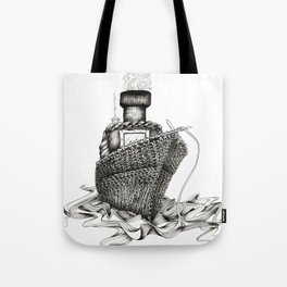 Knitted Ship Tote Bag