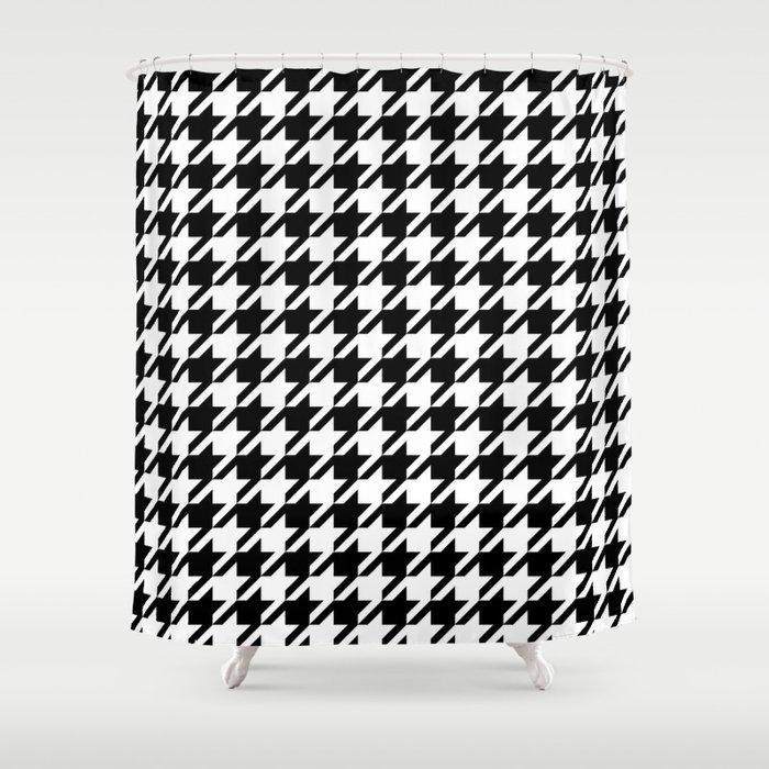Black And White Alabama Pattern University Of Crimson Tide College Shower Curtain