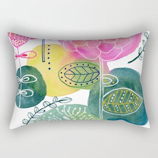 Blooming Circles Rectangular Pillow