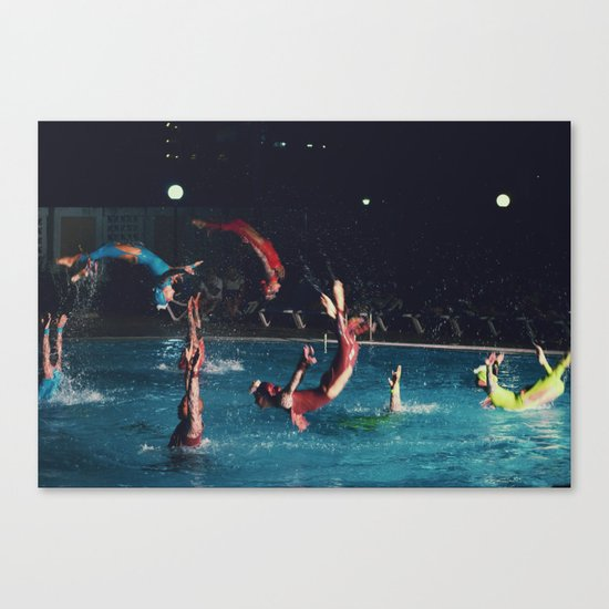 four stages of a backflip Canvas Print