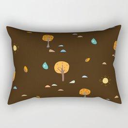 Trees in Fall Rectangular Pillow