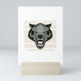 wolf for people who like sensitive savages  Mini Art Print