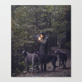 The Scottish Wolfhound Canvas Print