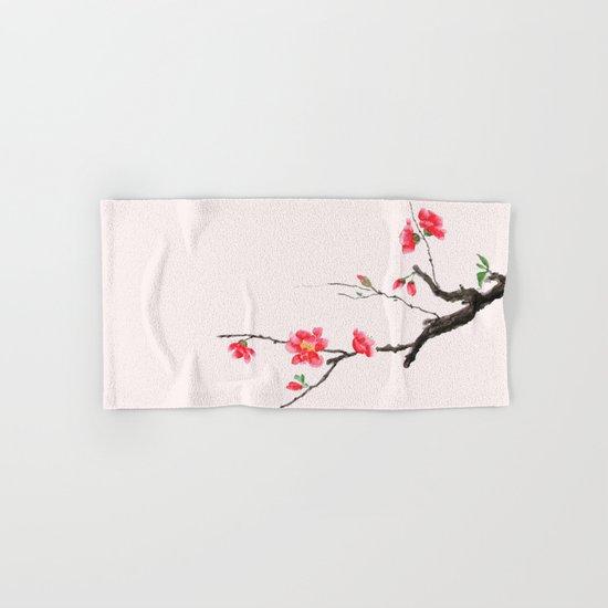 red Japan begonia Hand & Bath Towel