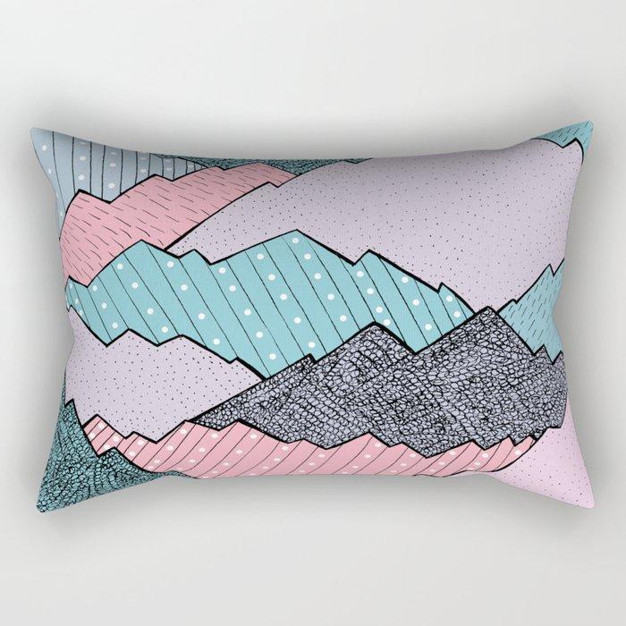 Mountain Tones Rectangular Pillow