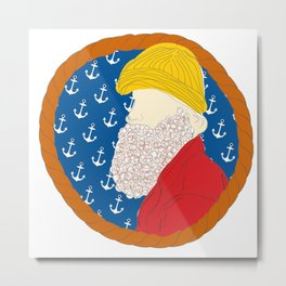 Fisherman Frame  Metal Print