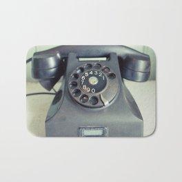 Old Rotary Telephone Bath Mat