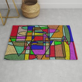 Abstract Stained Glass Rug