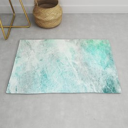 Mint Green Abstract Rug