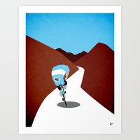 cycling Art Prints featuring Cycling by Osvaldo Casanova