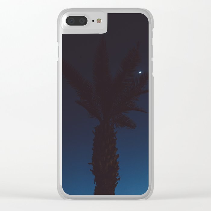Mexico Moon VI Clear iPhone Case