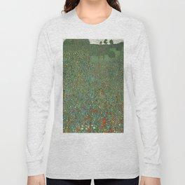 "Gustav Klimt ""Poppy field"" Long Sleeve T-shirt"