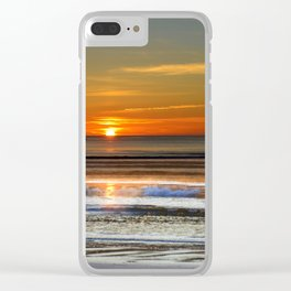 Silver and Gold Sunset Clear iPhone Case