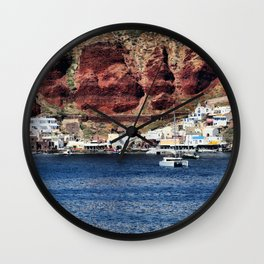 Santorini 23 Wall Clock
