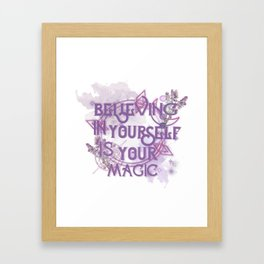 believing in yourself - lwa watercolor Framed Art Print