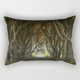 Dark Hedges alley in northern Ireland Rectangular Pillow
