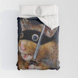 Ninja Hamster Duvet Cover