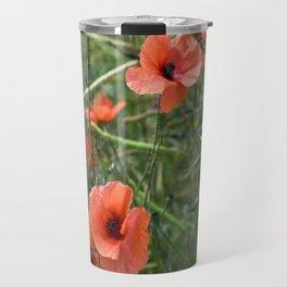 RED POPPY FLOWERS - Isle Ruegen Travel Mug