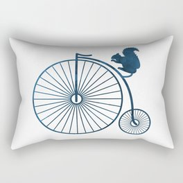 Squirrel on a high wheel Rectangular Pillow