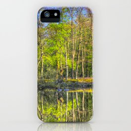 The Pond Reflections  iPhone Case