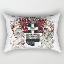 Luxury heraldic classic design shield in english vintage style Rectangular Pillow